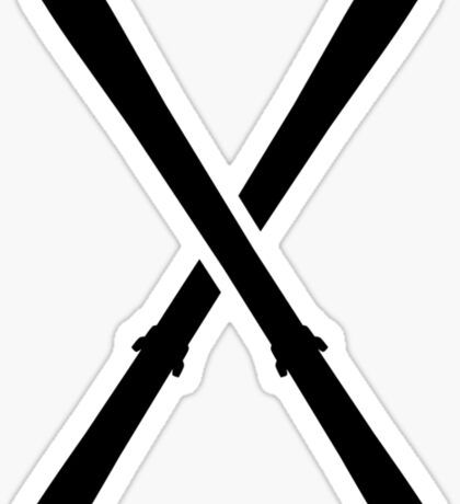 Crossed ski Sticker