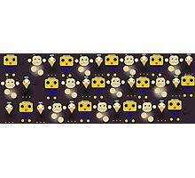 Servbots, Birdbots and Data The Monkey pattern (Megaman Legends UNOFFICIAL) Photographic Print