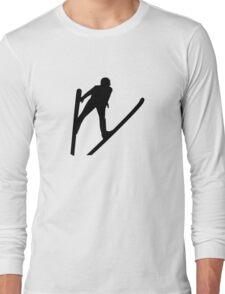 Ski jumper jumping Long Sleeve T-Shirt