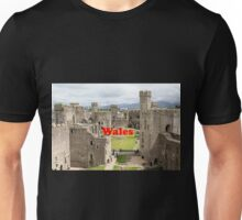 Wales: Caernarfon Castle, United Kingdom Unisex T-Shirt