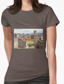 Wales: Caernarfon Castle, United Kingdom Womens Fitted T-Shirt