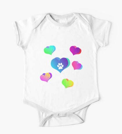 Paws of Love One Piece - Short Sleeve