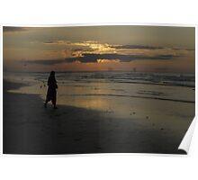 Sunset Over Saltburn Poster