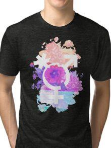 Floral Pronouns Tri-blend T-Shirt