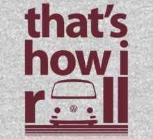 How I Roll Early Bay Dark Red Kids Tee