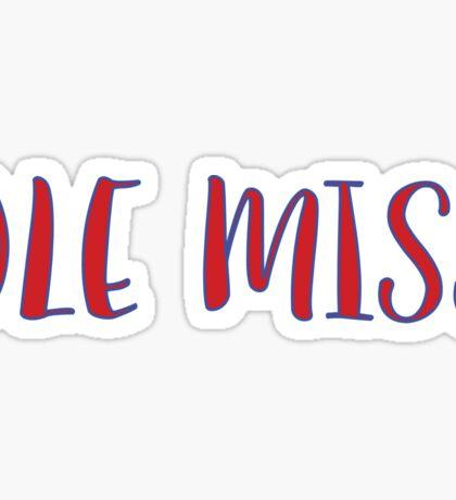 Ole Miss Sticker