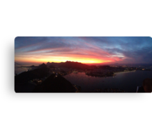 Sunsets in Rio, Pt. 3 Canvas Print