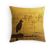 Early morning patrol Throw Pillow
