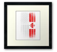 Canadian American Flag - Half Canadian Half American  Framed Print
