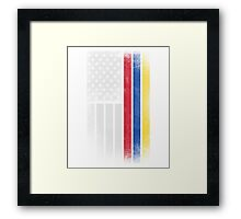 Colombian American Flag - Half Colombian Half American  Framed Print