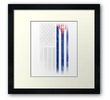 Cuban American Flag - Half Cuban Half American Framed Print