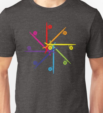 Skateboard Colour Wheel Unisex T-Shirt