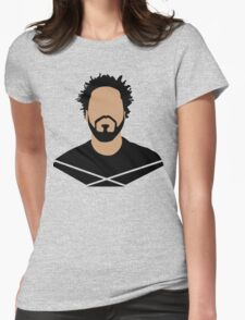 J Cole Minimalistic Cartoon Womens Fitted T-Shirt