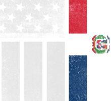 Dominican American Flag - Half Dominican Half American  Sticker