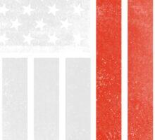 Chinese American Flag - Half Chinese Half American Sticker