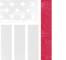 Danish American Flag - Half Dane Half American  Sticker