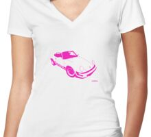 My own 911 in pink Women's Fitted V-Neck T-Shirt