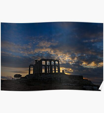 Temple of Poseidon Archeological site Poster