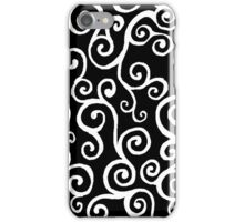 Current (Black and White) iPhone Case/Skin