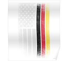 German American Flag - Half German Half American Poster