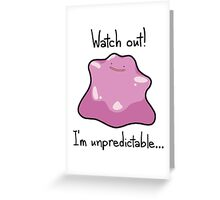 Ditto Girl Greeting Card