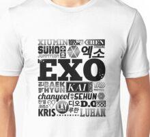 EXO Font Collage Unisex T-Shirt