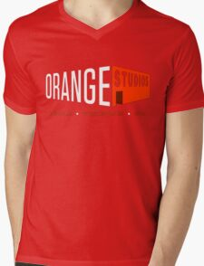 Orange Stuidos Mens V-Neck T-Shirt