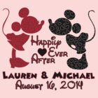 Custom Mickey and Minnie for Lauren & Michael by sweetsisters