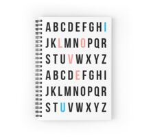 Alphabet Love Spiral Notebook