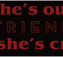 """She's our friend!"" - Stranger Things Sticker"