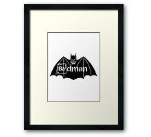 Badman Framed Print