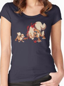Growlithe & Arcanine Women's Fitted Scoop T-Shirt