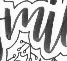 Smile Geo Doodle Sticker