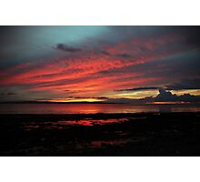 Enniscrone, in Red and Blue. Photographic Print
