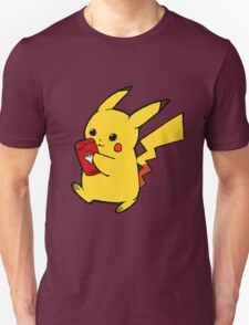 Pikachu playing pokemon go Unisex T-Shirt