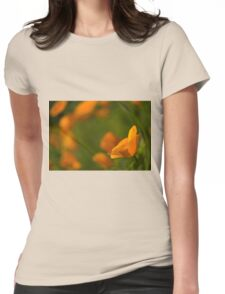 California Poppy Womens Fitted T-Shirt