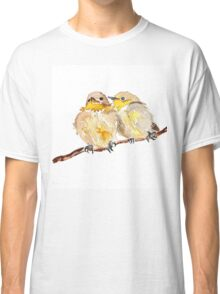 Two little birds sit together Classic T-Shirt