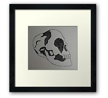 Black and White Skull  Framed Print