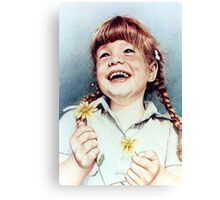 Sherry with Daisies Canvas Print