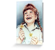 Sherry with Daisies Greeting Card