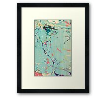 Abstract Painting ; Lagoon Framed Print