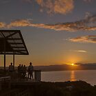 Watching the Sunset at Byron Bay by Clare Colins
