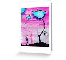 Cloudy Trees Greeting Card