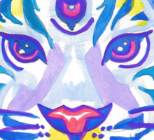 Clairvoyant Pastel Tiger Sticker
