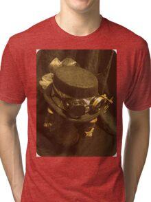 Steampunk Ladies Hat 1.0 Tri-blend T-Shirt