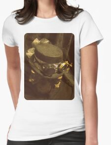 Steampunk Ladies Hat 1.0 Womens Fitted T-Shirt