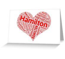Hamilton - Red Heart Greeting Card