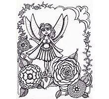 Fairy and flowers  Photographic Print