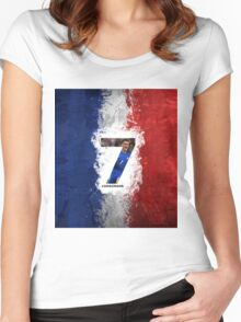 flag france antoine griezmann Women's Fitted Scoop T-Shirt