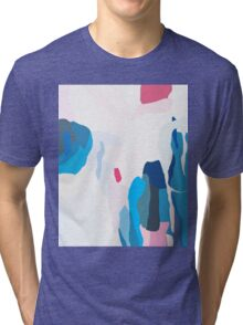 Abstract print, Red, White, Grey, Black, Blue, Navy, Pink, Modern art, Wall decor Tri-blend T-Shirt